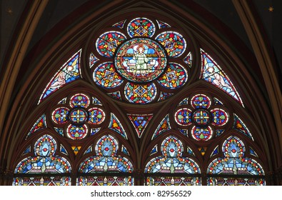 Paris - windowpane form Notre-Dame cathedral