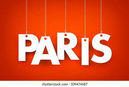 Paris word hanging on the ropes
