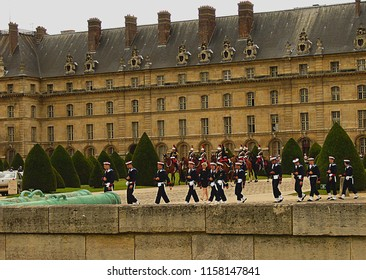 Paris/France -15.07.2012: Soldiers - on a military parade. Bastille Day.