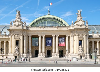PARIS,FRANCE - JULY 29,2017 : The Grand Palais in Paris on a sunny summer day