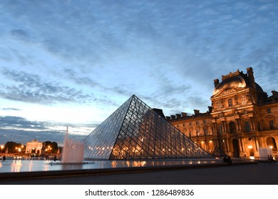 Paris/France - May 15, 2017: The Louvre Museum, is the world's largest art museum and a historic monument, Paris, France