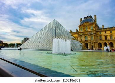 PARIS/FRANCE - SEPTEMBER 26: Louvre on September 26, 2017 in Paris, France.