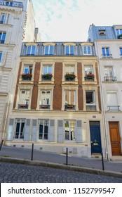PARIS/FRANCE - SEPTEMBER 26: Montmartre Neighborhood on September 26, 2017 in Paris, France.