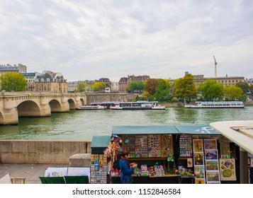 PARIS/FRANCE - SEPTEMBER 26: Pont Neuf on September 26, 2017 in Paris, France.