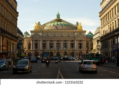 "Paris,France-07 31 2012:The Palais Garnier was built from 1861 to 1875 for the Paris Opera. The Palais Garnier has been called ""probably the most famous opera house in the world"", a symbol of Paris."