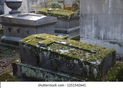 Paris/France_4 Dec 2018: Pere Lachaise Cemetery is the largest cemetery in Paris. Located in 20th arrondissement & first garden cemetery, as well as the first municipal cemetery in Paris.