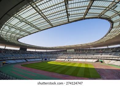 PARIS,FRANCE-CIRCA APRIL 2015: Stade de France view