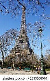 PARIS-FRANCE-FEB 24, 2019: The Eiffel Tower is the one of the  most visited landmark in France