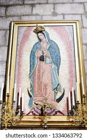 PARIS-FRANCE-FEB 24, 2019: Our Lady of Guadalupe in Notre Dame, Paris, France