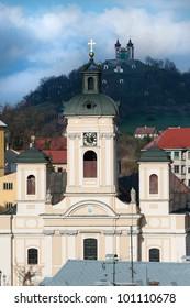 Parish church in Banska Stiavnica, Slovakia