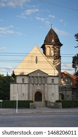 Parish church of Evangelical church of Czech brethren in Hradec Kralove. Czech Republic