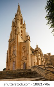 Parish Church in Ghajnsielem, Gozo island, Malta