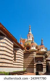 Parish Church of Sant Roma in Lloret de Mar. Catalonia, Spain