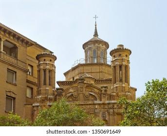 Parish church of Santiago El Mayor in Zaragoza, Spain