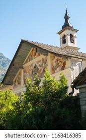 Parish Church of St. James , Issime, Valle d'Aosta, Aosta, Italy