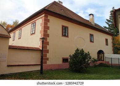 Parish office of Church of the Assumption of the Virgin Mary in Blatná, South Bohemian region, Czech republic