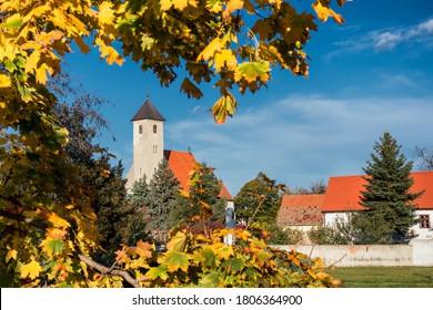 Parish of Saint Zigmund in Grinava, Pezinok, Slovakia. - Shutterstock ID 1806364900