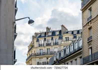Parisian buildings with different architecture styles.