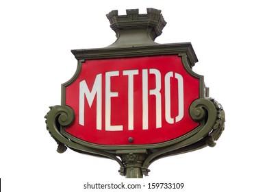 Parisian metro sign Paris France