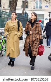 PARIS-JANUARY 24, 2018.Street Style meanwhile Paris fashion week. Haute couture.
