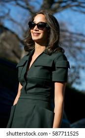 PARIS-JANUARY 25, 2016. Famous Lebanese fashion blooger Lana El Sahely is going to a fashion show. Paris fashion week.