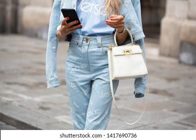 PARIS-JULY 4,2018.Street style meanwhile Paris fashion week. Haute couture.