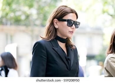 PARIS-JULY 6 2016. Christine Centenera, Vogue Australia fashion editor, is going to a fashion show during Paris Fashion week. Haute Couture.