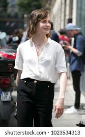 PARIS-JULY 6, 2016. Street style meanwhile Paris fashion week. Haute couture.