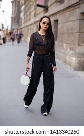 PARIS-JUNE 24, 2018.Street style meanwhile Paris fashion week. Men's wear.