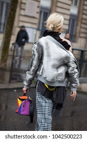 PARIS-MARCH 1, 2017. Caroline Daur. Street style meanwhile Paris fashion week. Ready to wear.