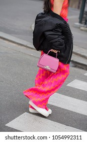 PARIS-MARCH 3, 2017. Street style meanwhile Paris fashion week. Ready to wear.