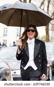 PARIS-MARCH 4, 2017.Anna dello Russo Street style during Paris fashion week.Ready to wear.