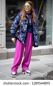 PARIS-MARCH 5, 2018. Street style meanwhile Paris fashion week. Ready to wear.