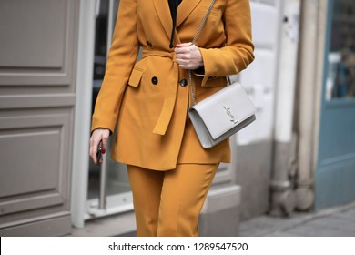 PARIS-MARCH 5, 2018. Street style meanwhile Paris fashion week. Ready to wear.