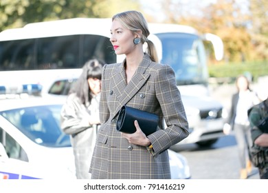 PARIS-OCTOBER 1, 2016. Roberta Benteler is going to a fashion show meanwhile Paris fashion week. Ready to wear.