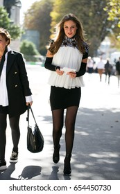 PARIS-OCTOBER 3, 2016. Street style fashion during Paris Fashion week, Ready to wear.