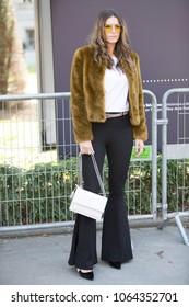 PARIS-SEPTEMBER 29, 2017. Street style during Paris fashion week. Ready to wear.