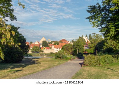 The park Almedalen in the small town Visby