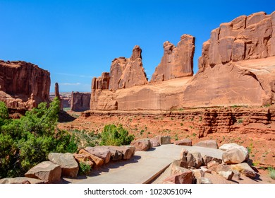 The Park Avenue Trail is one of the first major attractions within Arches National Park. Utah