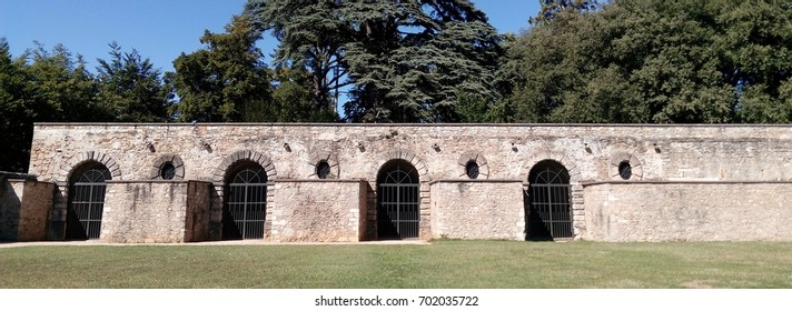 park of Beauregard, the outside of the orangery, St Genis Laval, France