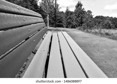Park bench in Harford County, Maryland