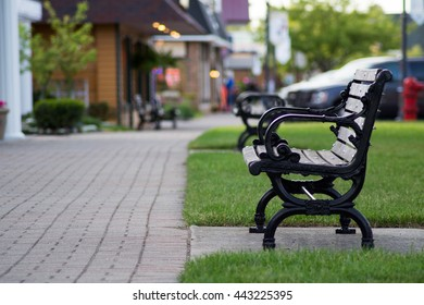 Park Bench in Mackinaw City, Michigan