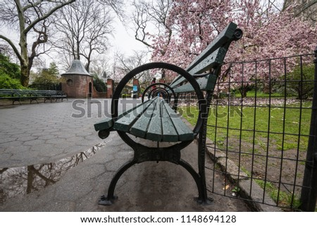 Park Bench New York Stock Photo Edit Now 1148694128 Shutterstock