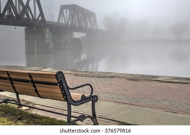 Park Bench on a Foggy Morning