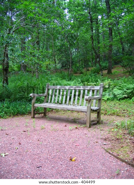 Park bench on the trail
