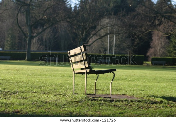 A park bench in Stanley Park