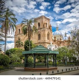 Park Calderon and Inmaculada Concepcion Cathedral - Cuenca, Ecuador