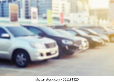 park car blur background