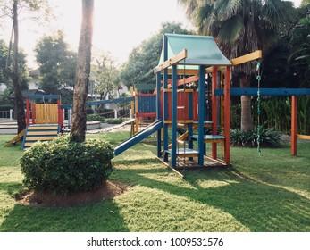 In the park, Children Playground on sunny days.