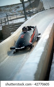 PARK CITY - DECEMBER 5: Team USA competes in the America's Cup Bobsled Races December 5, 2009 in Park City, Utah.